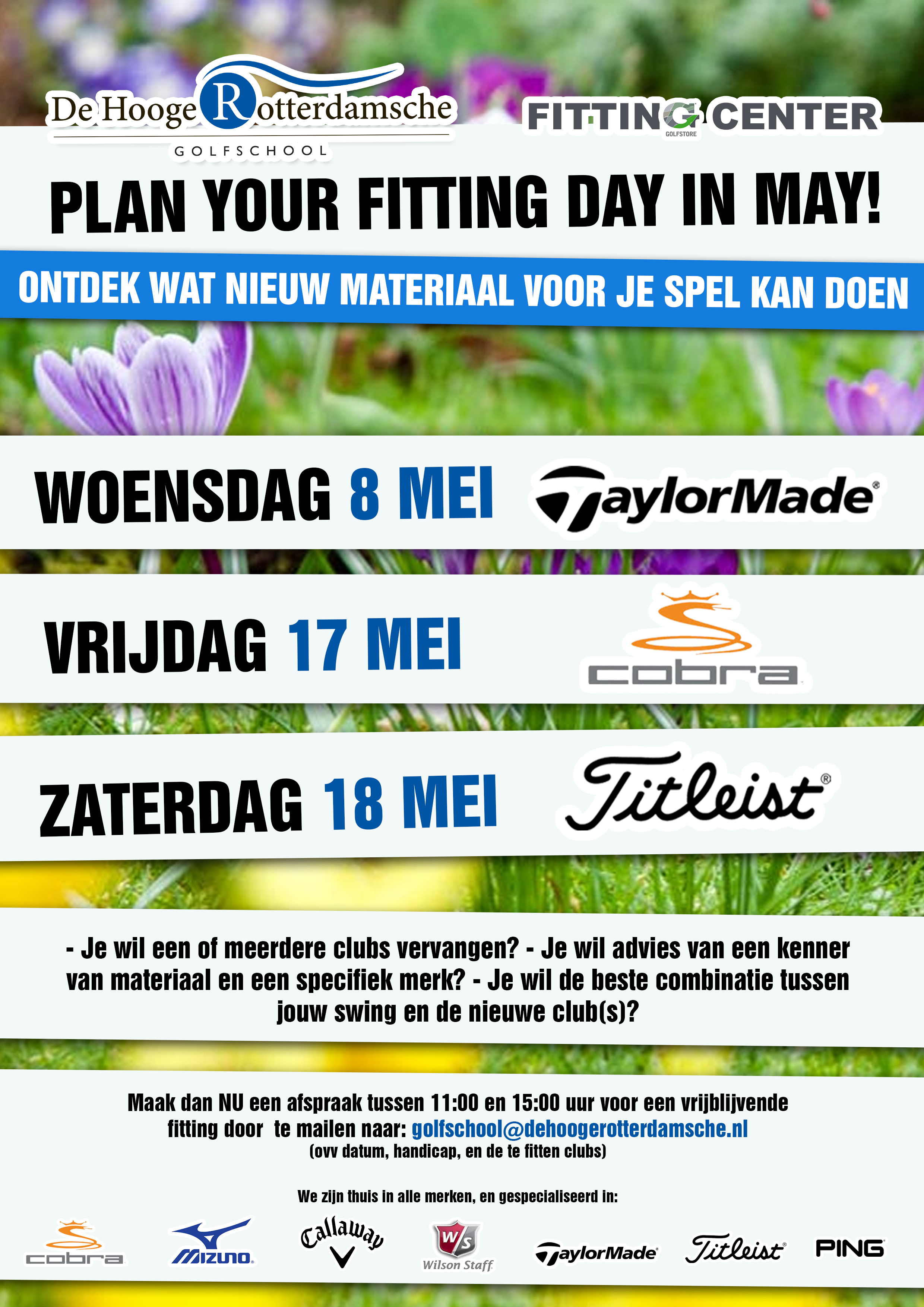 Plan your Fitting day in May